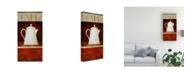 "Trademark Global Pablo Esteban White Pitcher in Red 2 Canvas Art - 27"" x 33.5"""