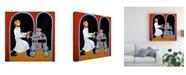 "Trademark Global Patricia A. Reed Dessert Cart Garcon Canvas Art - 36.5"" x 48"""