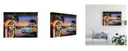 "Trademark Global Patrick Sullivan Beach Music Juke Canvas Art - 15.5"" x 21"""