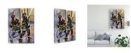 "Trademark Global Paul Walsh First Due Canvas Art - 15.5"" x 21"""