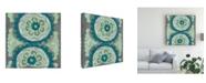 "Trademark Global Chariklia Zarris Teal Tapestry III Canvas Art - 15.5"" x 21"""