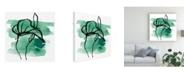 "Trademark Global June Erica Vess Tropical Sumi E I Canvas Art - 15.5"" x 21"""
