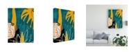 "Trademark Global June Erica Vess Graphic Blue Lagoon I Canvas Art - 36.5"" x 48"""