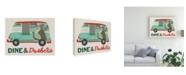 "Trademark Global June Erica Vess Food Truck Holidays I Canvas Art - 19.5"" x 26"""