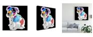 "Trademark Global Michel Keck Pitbull III Canvas Art - 15.5"" x 21"""