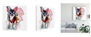 "Trademark Global Michel Keck Chihuahua IV Canvas Art - 15.5"" x 21"""