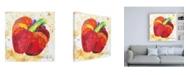 "Trademark Global Elizabeth St. Hilaire Veggie Splash IV Canvas Art - 36.5"" x 48"""