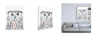 "Trademark Global June Erica Vess Funky Owl Portrait II Canvas Art - 36.5"" x 48"""