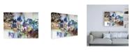 "Trademark Global Jennifer Gardner Rainbow Blue I Canvas Art - 36.5"" x 48"""