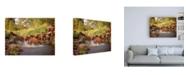 "Trademark Global PH Burchett River Horses II Canvas Art - 36.5"" x 48"""