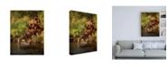 "Trademark Global PH Burchett River Horses I Canvas Art - 19.5"" x 26"""
