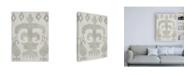 """Trademark Global Chariklia Zarris Shadow Ikat III Canvas Art - 19.5"""" x 26"""""""