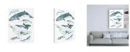 """Trademark Global June Erica Vess Cetacea I Canvas Art - 36.5"""" x 48"""""""