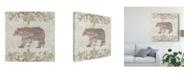 "Trademark Global June Erica Vess Cabin Christmas III Canvas Art - 27"" x 33"""