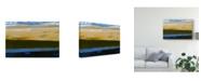 "Trademark Global Sharon Gordon Deconstructed View in Blue II Canvas Art - 20"" x 25"""