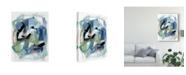 "Trademark Global Christina Long Blue Fall I Canvas Art - 15"" x 20"""