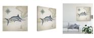 "Trademark Global Rick Novak Sailfish Map I Canvas Art - 15"" x 20"""