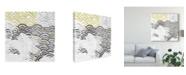 "Trademark Global June Erica Vess Block Print Abstract III Canvas Art - 20"" x 25"""