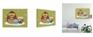 "Trademark Global June Erica Vess Happy Owlidays VIII Canvas Art - 15"" x 20"""
