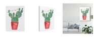 "Trademark Global Jenaya Jackson A Very Cactus Christmas III Dark Green Canvas Art - 20"" x 25"""