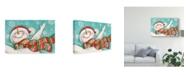 "Trademark Global Mary Urban Let it Snow Man I Canvas Art - 20"" x 25"""