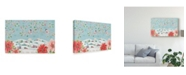 "Trademark Global Daphne Brissonnet Country Poinsettias IV Canvas Art - 20"" x 25"""