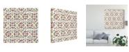"Trademark Global Daphne Brissonnet Country Poinsettias Step 05A Canvas Art - 15"" x 20"""
