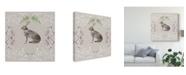 "Trademark Global Naomi Mccavitt Hare & Antlers I Canvas Art - 15"" x 20"""