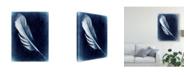 "Trademark Global Honey Malek Inverted Feather I Canvas Art - 20"" x 25"""