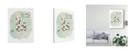"Trademark Global June Erica Vess Llama Squad I Canvas Art - 15"" x 20"""