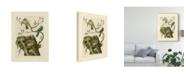 "Trademark Global Nozeman Nozeman Birds and Nests III Canvas Art - 20"" x 25"""
