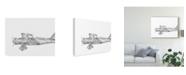 "Trademark Global Ethan Harper Technical Flight VI Canvas Art - 20"" x 25"""