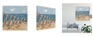 "Trademark Global Jade Reynolds Beach Scene Triptych II Canvas Art - 20"" x 25"""