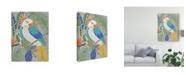 "Trademark Global Chariklia Zarris Tropical Cockatoo Canvas Art - 20"" x 25"""