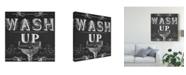 "Trademark Global June Erica Vess Chalkboard Bath Signs III Canvas Art - 15"" x 20"""