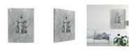 "Trademark Global Naomi Mccavitt English Silver II Canvas Art - 15"" x 20"""