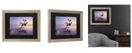 "Trademark Global Moises Levy Water Tree XV Matted Framed Art - 27"" x 33"""