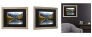"""Trademark Global Pierre Leclerc Autumn River Matted Framed Art - 27"""" x 33"""""""