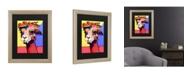 "Trademark Global Pat Saunders-White Peaches Matted Framed Art - 27"" x 33"""