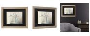 """Trademark Global Julia Purinton Cotton Bouquet Matted Framed Art - 27"""" x 33"""""""