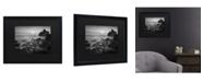 "Trademark Global Moises Levy Sunset at Ruby Beach Matted Framed Art - 15"" x 20"""