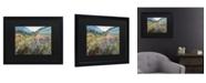 "Trademark Global Masters Fine Art Field of Wild Flowers Matted Framed Art - 15"" x 20"""