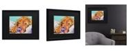 "Trademark Global Pat Saunders-White Snoozer King Matted Framed Art - 15"" x 20"""