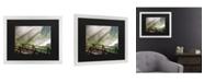 """Trademark Global Pierre Leclerc Forest Sunlight Matted Framed Art - 20"""" x 25"""""""
