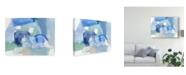 "Trademark Global Christina Long Blue Formation II Canvas Art - 20"" x 25"""