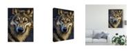 "Trademark Global Patrick Lamontagne Wolf Totem Canvas Art - 20"" x 25"""