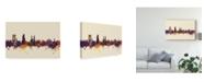 """Trademark Global Michael Tompsett Winterthur Switzerland Skyline III Canvas Art - 20"""" x 25"""""""