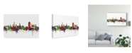 "Trademark Global Michael Tompsett Lugano Switzerland Skyline II Canvas Art - 20"" x 25"""