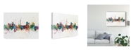 "Trademark Global Michael Tompsett Auckland New Zealand Skyline Splash Canvas Art - 15"" x 20"""