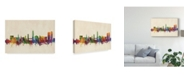 "Trademark Global Michael Tompsett Split Croatia Skyline Canvas Art - 37"" x 49"""